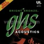 BB10U GHS Acoustic Guitar Strings - Bright Bronze Ultra Light 10-46