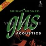 BB30L GHS Acoustic Guitar Strings - Bright Bronze Light 12-54