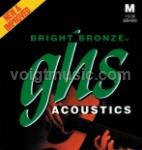 BB40M GHS Acoustic Guitar Strings - Bright Bronze Medium 13-56