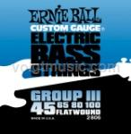 Ernie Ball 2806 Flatwound Bass Guitar Strings - Group III Semi-Flex 45-100