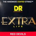 DR RDA EXR Red Coated Acoustic Phosphor Bronze Guitar Strings on Hexagonal Core