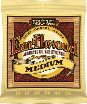 EB2002 Ernie Ball Earthwood Acoustic Guitar Strings - Medium 13-56