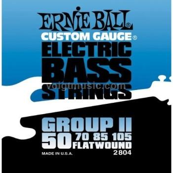 Ernie Ball 2804 Flatwound Bass Guitar Strings - Group II Semi-Firm 50-105