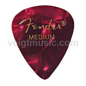 Fender 0980351709 Thin Celluloid Picks - Red Moto - Pack of 12