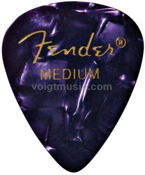 Fender 0980351976 Heavy Celluloid Picks - Purple Moto - Pack of 12
