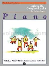 Alfred's Basic Piano Course - Technic Book - Complete 1 (1A/1B)