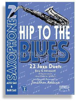Hip to the Blues Jazz Duets w/ CD - Alto Sax - Book 2