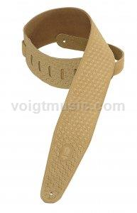 "Levy's PMS44T02SAND 3"" Sand Suede Tooled Leather Guitar Strap"