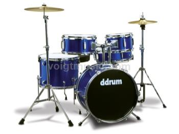 ddrum D1PB D1 Junior Drum Set - Police Blue