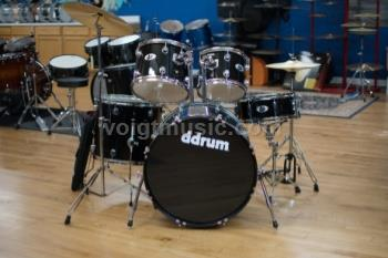 ddrum D2MB D2 5-Piece Complete Drum Set - Midnight Black